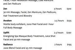 Joliè Body Treatments and Packages
